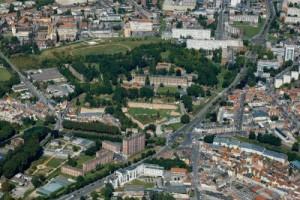 Vue aérienne de la Citadelle d?Amie
